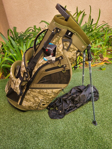 Maxfli Honors + Plus Golf 14 Way Stand Bag, Camouflage, Rain Hood, Sold Out! NEW