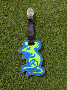 NEW SCOTTY CAMERON GALLERY Tour Rat Circle T Rubber Leash, Blue/Lime