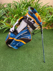 Maxfli Honors Lite 2019 Sunday Golf 3 Way Stand Bag, Blue Orange Lightweight, NEW!