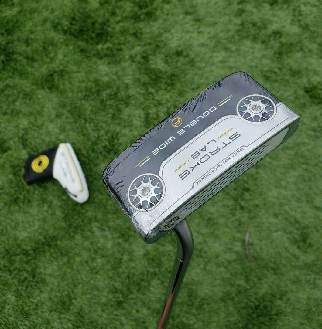 Tour Issue! , Rare '2019 ODYSSEY STROKE LAB DOUBLE WIDE PUTTER w/ Headcover, 34