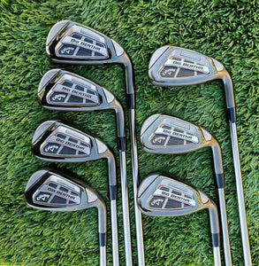 NEW CALLAWAY GOLF 2016 BIG BERTHA OS IRON SET 6 - SW, GRAPHITE RECOIL F3 REGULAR