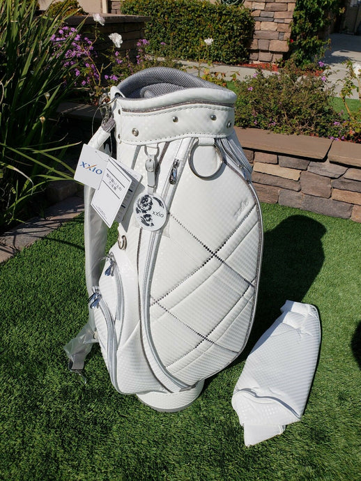 9c523bf2ef NEW DUNLOP Womens Caddy Bag XXIO Sports Model GGC-X095W White / Silver