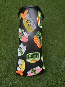 Scotty Cameron HAPPY SUSHI Design Black Blade Putter Headcover New, Rare!