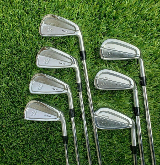 BRIDGESTONE J15 CB STEEL IRON SET 4-PW -TRUE TEMPER DG PRO S300 STIFF,NEW GRIPS!