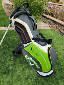 2019 Callaway Golf Epic Flash Double Strap  4 Way Stand Bag ,w.Rain Cover, New!!