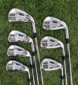 CALLAWAY ROGUE PRO IRONS 4-PW STEEL NS PRO 950GH SR STIFF FLEX, MINT CONDITION!!