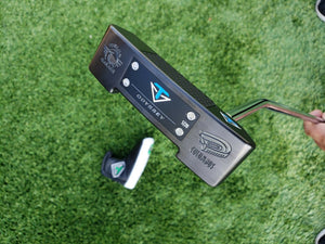 "TOULON DESIGN Tour Garage Black Pearl Columbus Putter 35"" w,Custom HC,MINT"