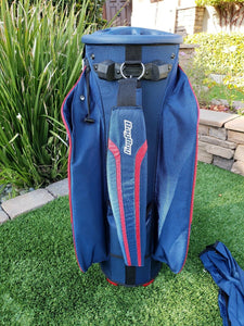 Bag Boy Revolver FX Cart Bag Navy/Red/White 14 Way, w. Rain Hood, BRAND NEW!