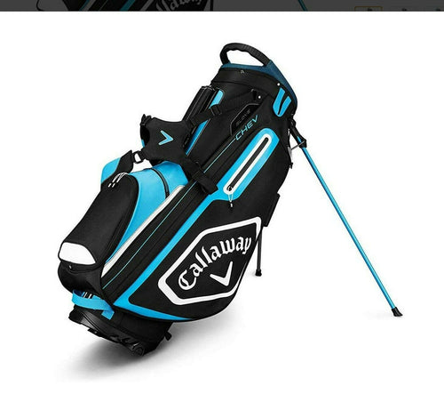 2019 Callaway Golf Chev Stand Stand Bag - Black/Blue/White, NEW With Tags.