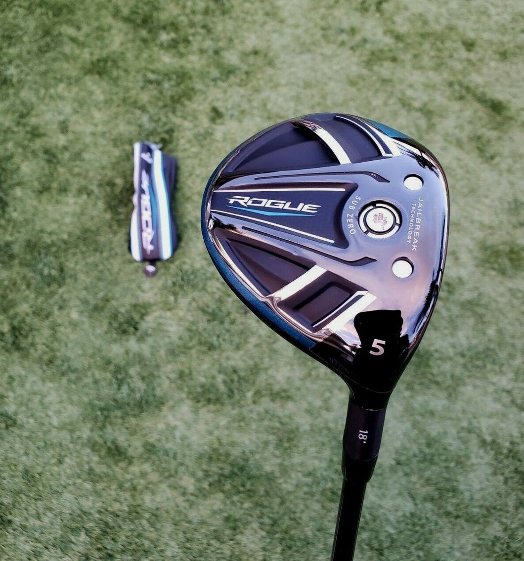 Callaway Tour Issue Rogue 18° 5 Wood Tour AD MJ 5s Stiff w TC serial + HC, MINT!