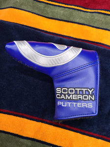 Scotty Cameron Carbon Circle T Headcover Blue Industrial Putter Cover NEW