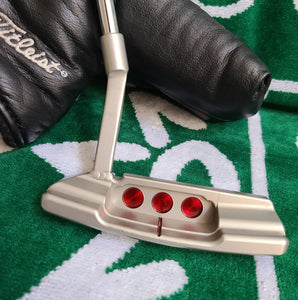 "Scotty Cameron Timeless Welded 3 Dot Mid Slant Circle T Putter, plays at 35"", Original Headcover!"