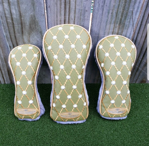 Scotty Cameron Tour Princess Sage head cover Set,Gallery Release,Rare,BRAND NEW!