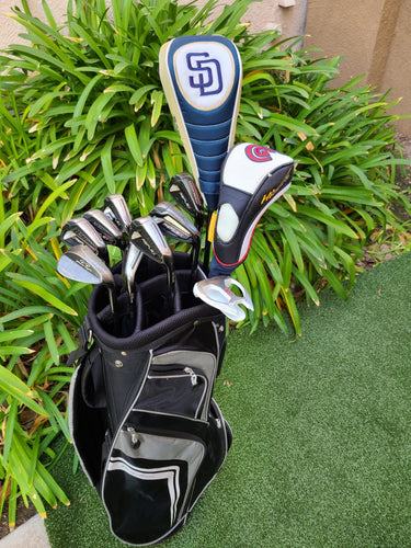 Complete Golf Set Callaway Driver & Wood, Wilson Irons, Armada Putter +Bag, Nice