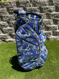 Ouul Ocean Camo 15 Way Cart Bag With RainHood- New!