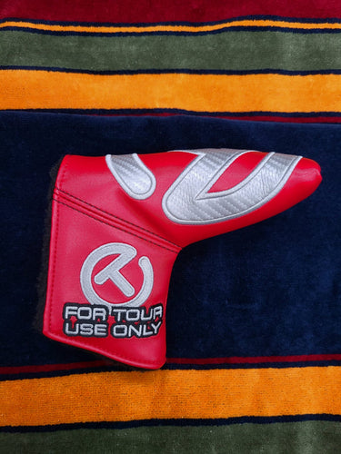 Scotty Cameron Carbon Circle T Headcover Red Industrial Putter Cover NEW