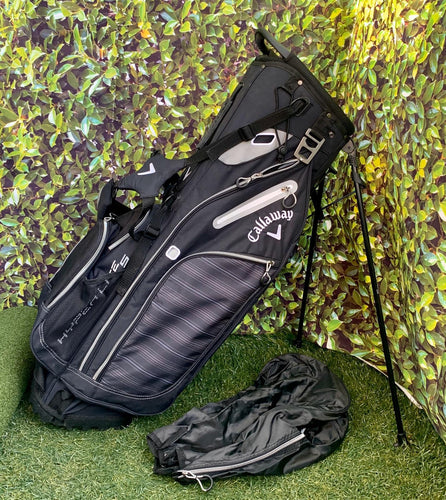 Callaway Hyper-Lite 5 Stand Bag, Black/Grey, With Rain Cover- Great Condition!!