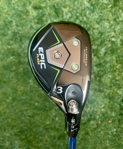 Callaway Epic Flash T.I, 18* 3 Hybrid , RH, Project X Even Flow Blue Hand Crafted ProtoType 6.5 85g Shaft, NEW !