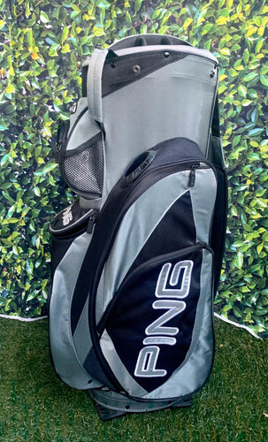 Ping Pioneer LC 14 Way Cart Bag, Grey/Black.. Nice Condition!!