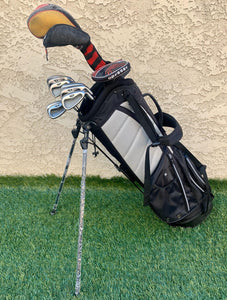 Complete Golf Set, TaylorMade Driver, Titleist 3 Wood, TaylorMade Irons, Yes! Putter, RJ Golf  6 Way Stand Bag..In Good Condition!!!!