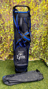 Lynx 5 Way Stand Bag, Black/Blue, With RainHood- New