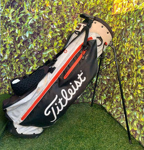 Titleist Players 4+ Stand Bag, White/Black/Red- Good Condition!!