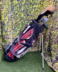Complete Golf Set, TaylorMade Woods, TaylorMade Irons, TaylorMade Putter, Adams Golf Wedge, TaylorMade 6 Way Stand Bag..In Excellent Condition!!!!