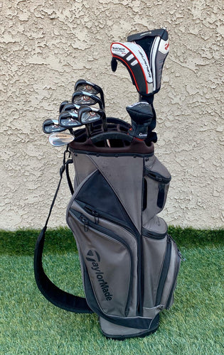 Complete Golf Set, TaylorMade Woods,TaylorMade Irons, TaylorMade Putter, TaylorMade 14 Way Cart Bag..In Great Condition!!!!