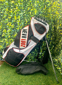 NEVR LOOZ Standard ProClip-SCT 14 Way  Cart Golf Bag... Excellent Condition!!!