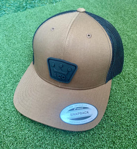 Scotty Cameron Gallery Crowns & Co Rubber Patch SnapHat, Coyote Brown, NEW!!!