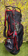 Lynx 5 Way Stand Bag, Black/Red, With RainHood- New