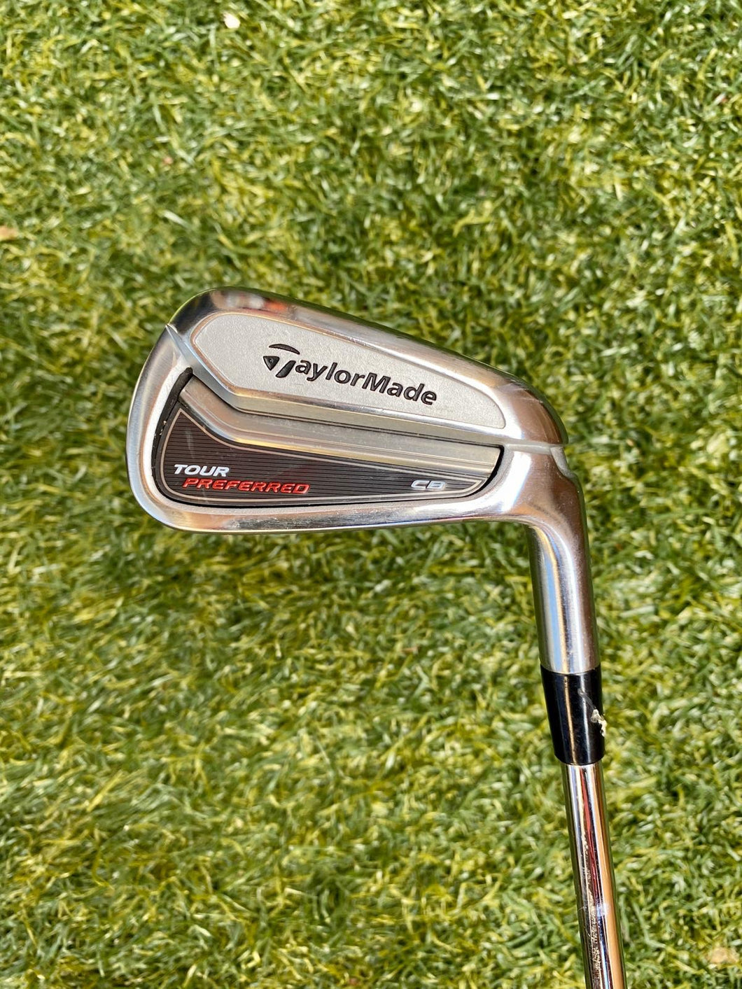 TaylorMade Tour Preferred CB 6 Single Iron, RH, KBS Tour Stiff Steel Shaft- Good Condition