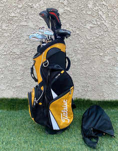 Complete Golf Set, Titleist Woods, Titleist Irons, TaylorMade Putter, Titleist 12 Way Cart Bag..Great Condition!!!