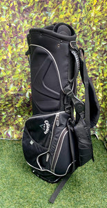 Callaway Golf 7 Way Stand Bag, Black/Grey, With Rain Hood- Mint Condition!