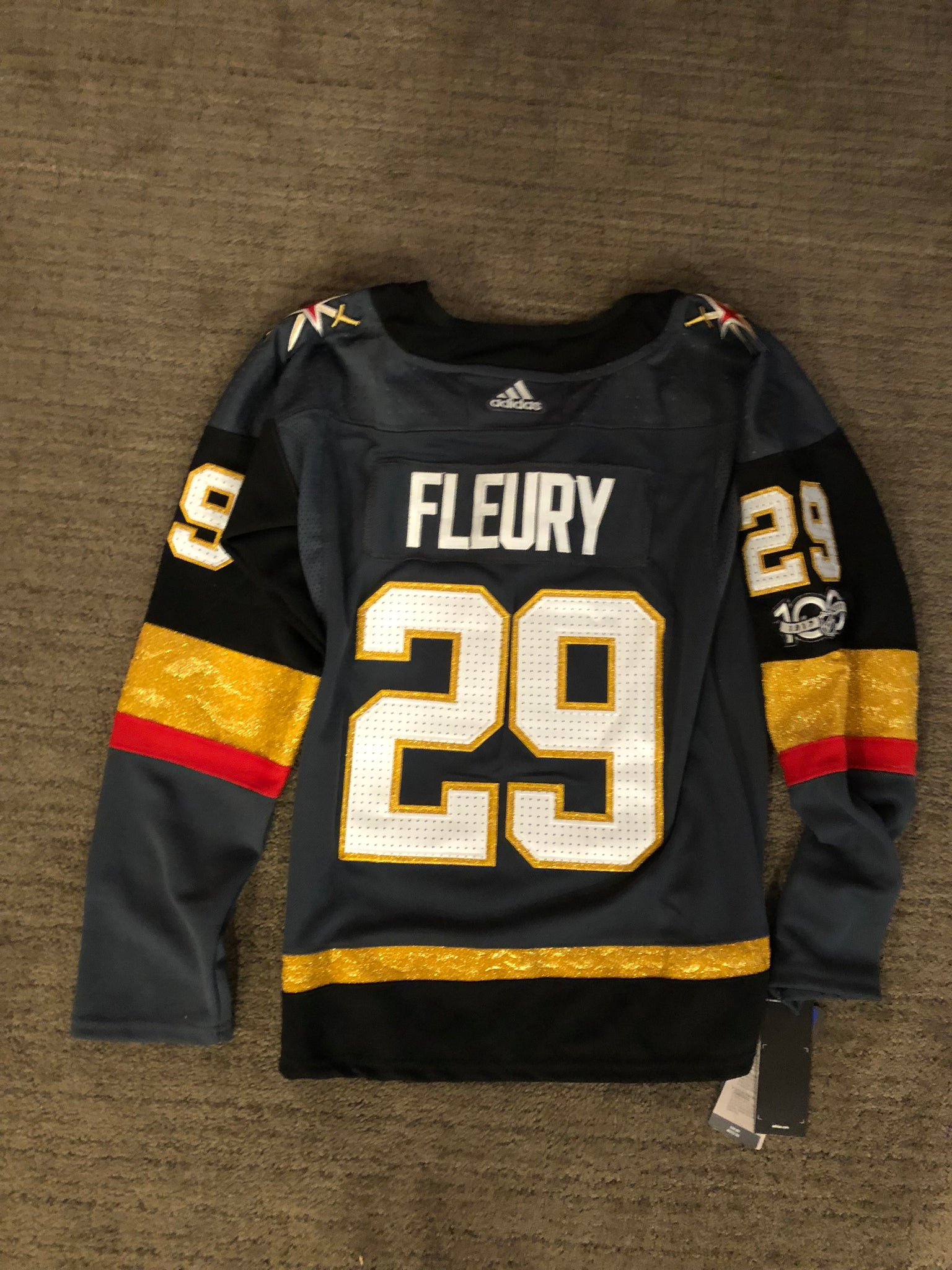 ... WOMEN S Vegas Golden Knights FLEURY White or Grey Jerseys with PATCHES  ... 758e8754e2