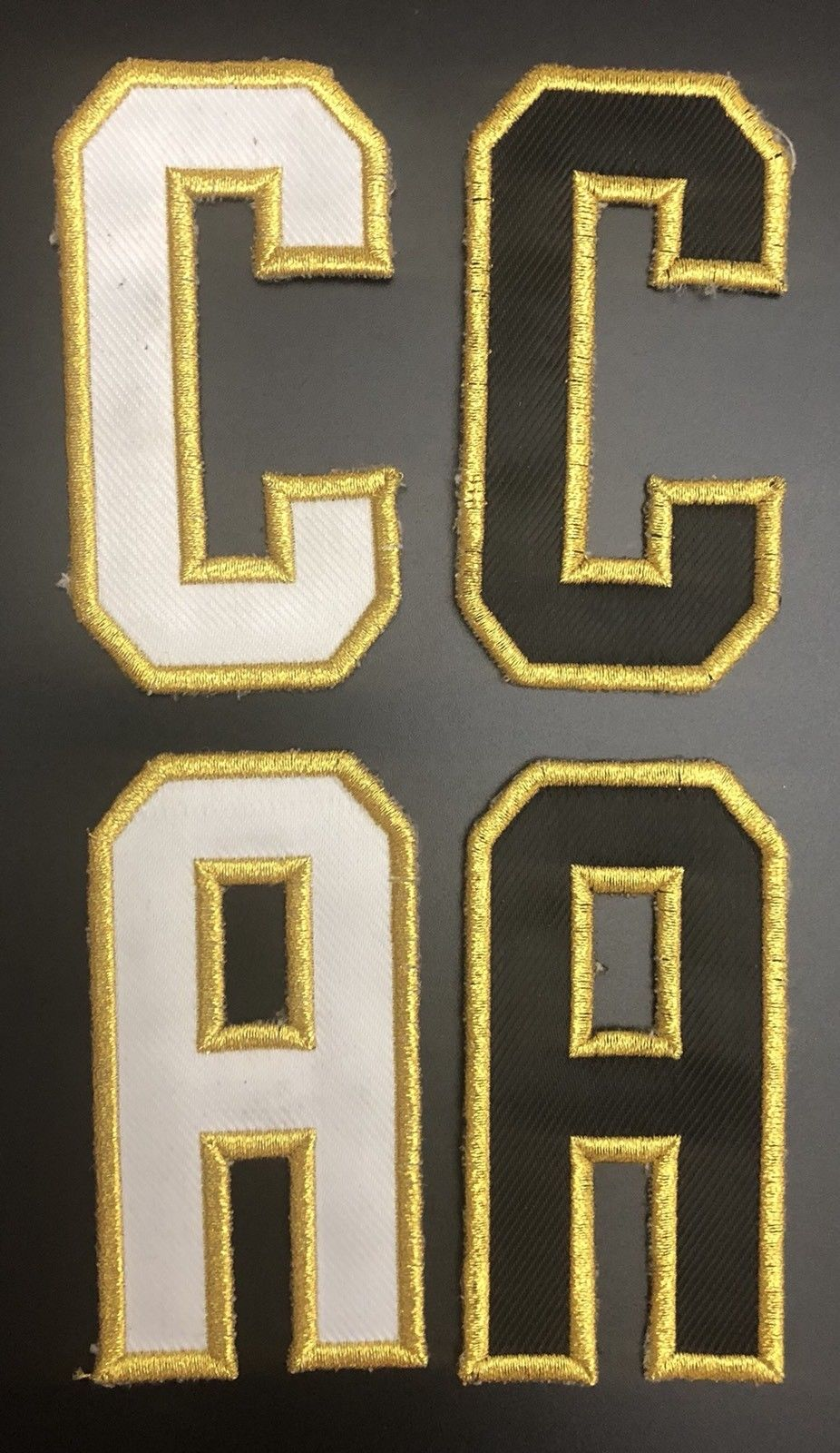 new concept 18463 14d6b Vegas Golden Knights Patches Letter Cs and As - For Home and Away Jerseys