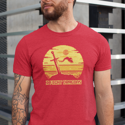I Fight Dragons Sunset T-Shirt