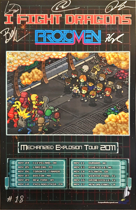 Mechanized Explosion Tour Poster