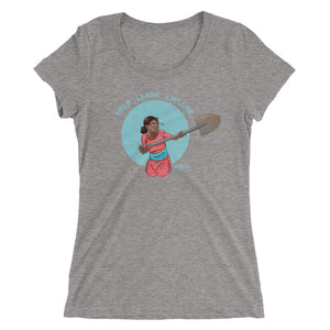 Ladies' Nepalese Girl Shoveling Short Sleeve T-shirt (Light)