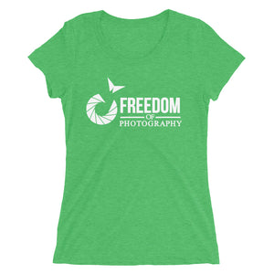 Ladies' Freedom of Photography Logo (White)