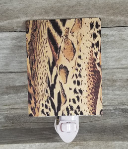 Animal print night light