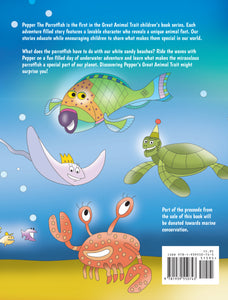Children's Picture Book Pepper The Parrotfish, by Great Animal Trait LLC, Back Cover