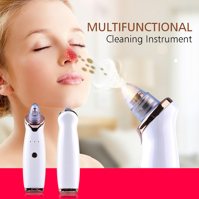 Blackhead Removal Skin Care Pore Dust Removal Pimple Vacuum Suction Tool