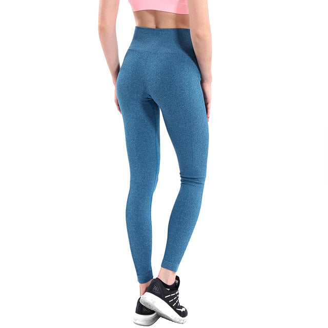 Women Yoga Pants High Elastic Fitness Sport Leggings Tights Slim Running Sportswear Sports Pants