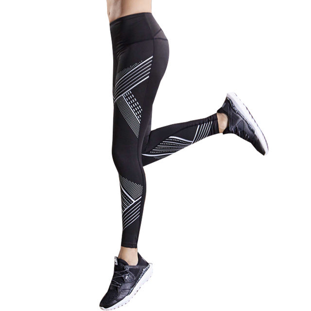Women Compression Running Pants Tights Female Exercise Sports Gym Leggings Fitness Jogging Trousers Yoga Bra Slim Thin Elastic