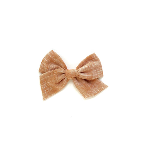 Rust Yarn Dyed Pinwheel Fabric Bow