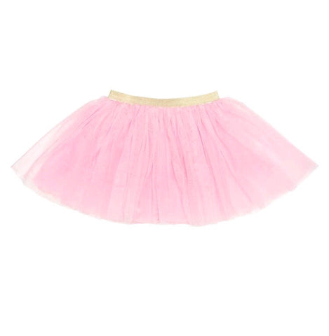 Sweet Wink Light Pink and Gold Glitter Tutu Skirt
