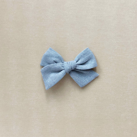 Silver Metallic Pinwheel Fabric Bow