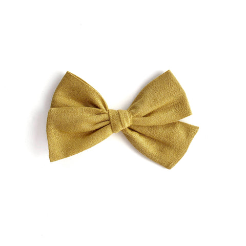 Gold Metallic Cotton Pinwheel Fabric Bow