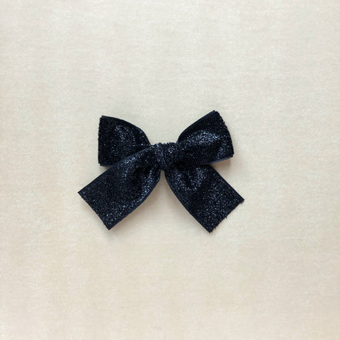 White Eyelet Lace Hand Tied Bow